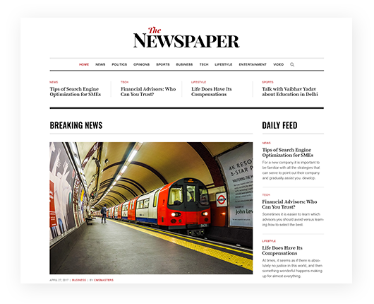Create a Beautiful WordPress Blog or News Website,  Download Newspaper Premium Themes