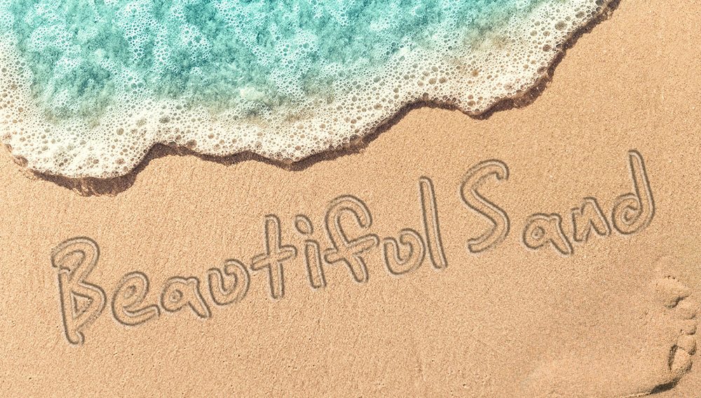 I will create your any 2 words with sand writing
