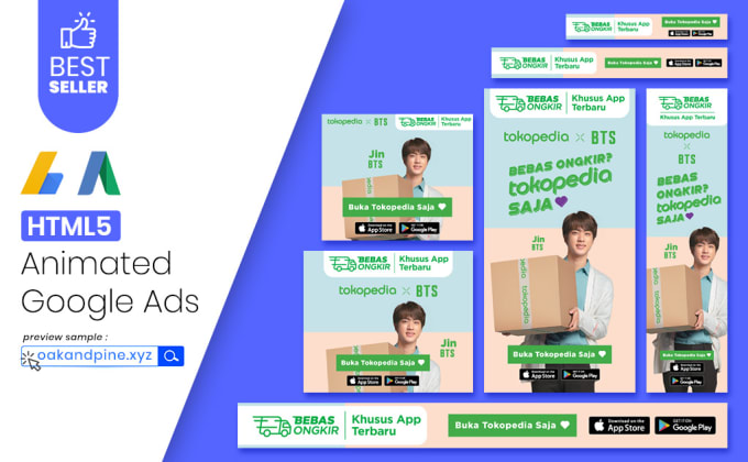I will create animated html5 banner ads