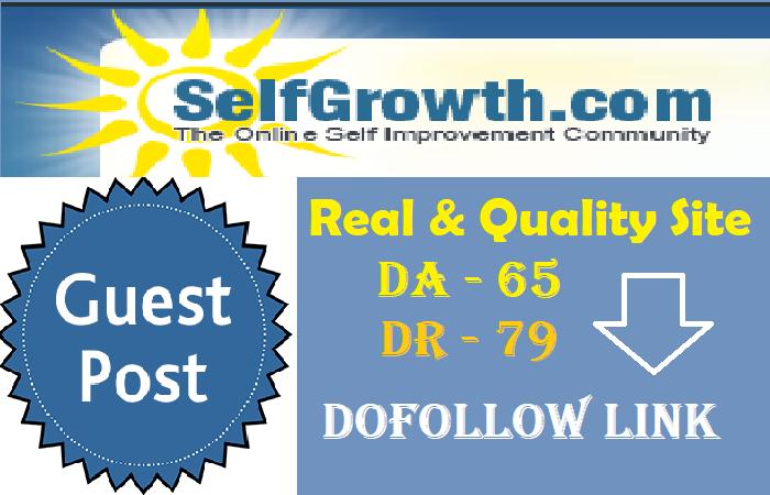 Publish Guest Post On Selfgrowth. com DA 65+ DR 79+