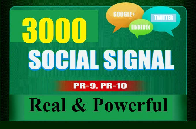 provide 3000 SEO social signals real and powerful