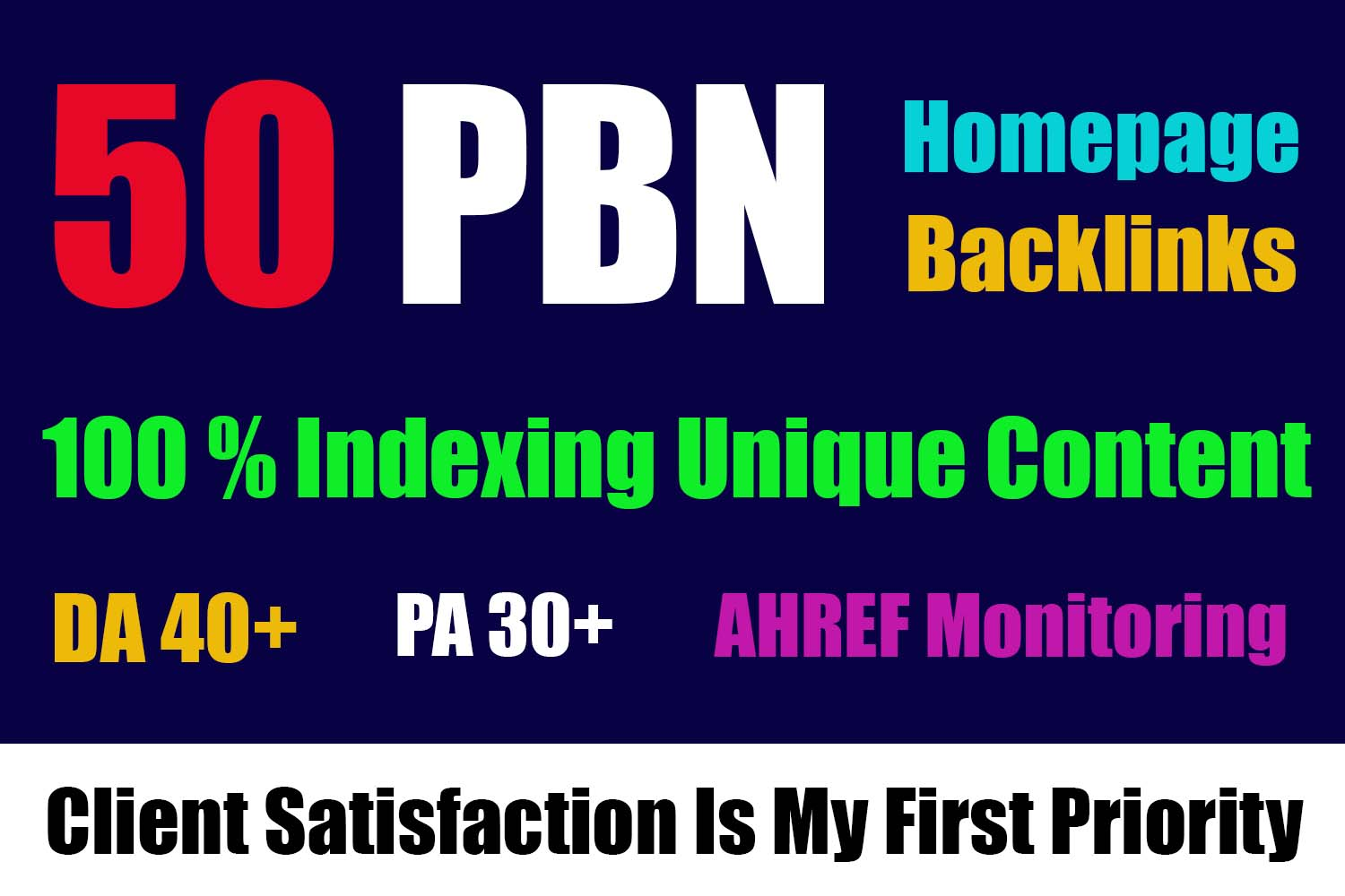 Get 50 Homepage Dofollow PBN Backlinks DA 40 plus For High Ranking now only