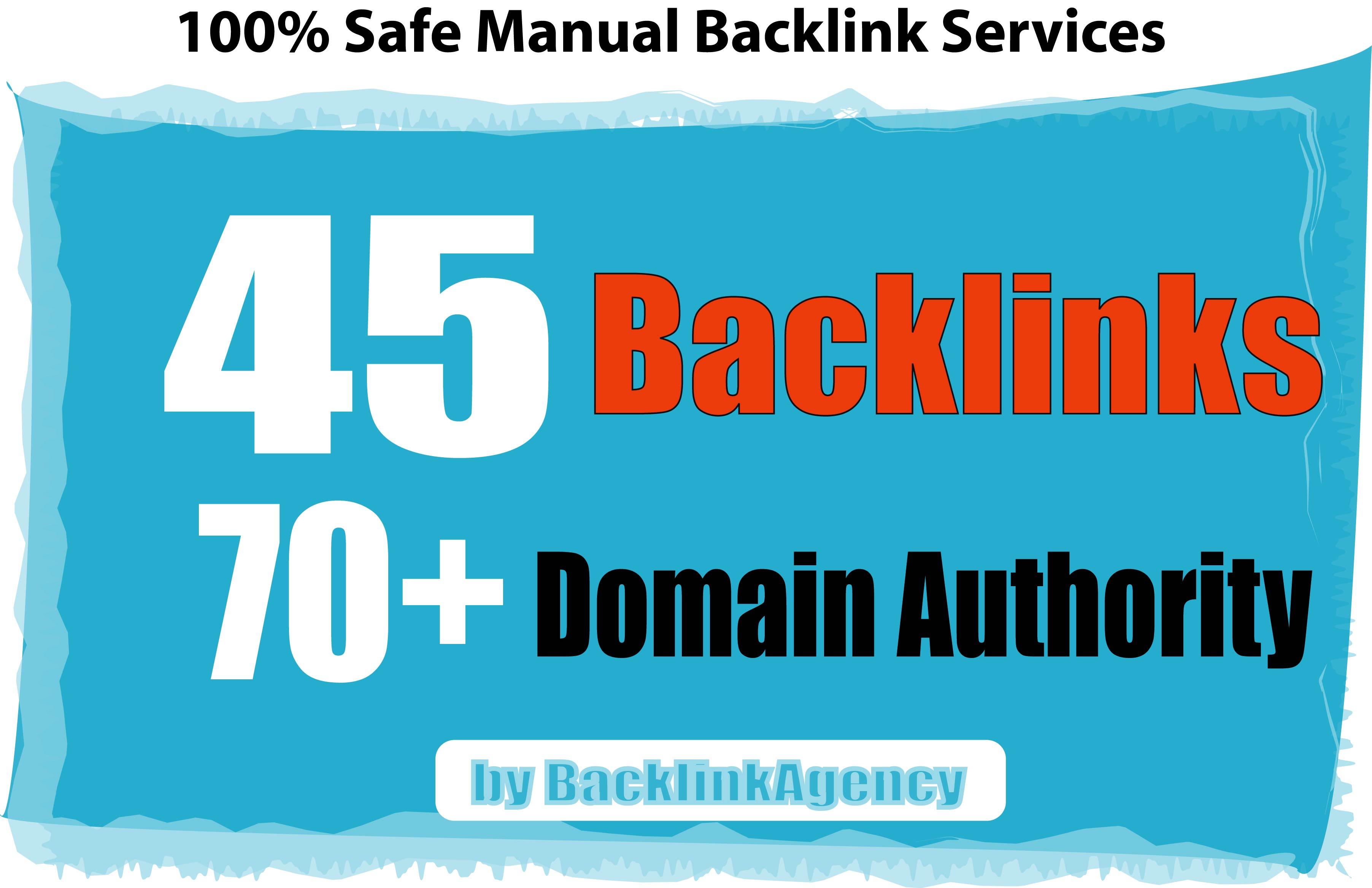45 Backlinks from DA 75 High Domains,  Skyrocket Your Google RANKINGS NOW