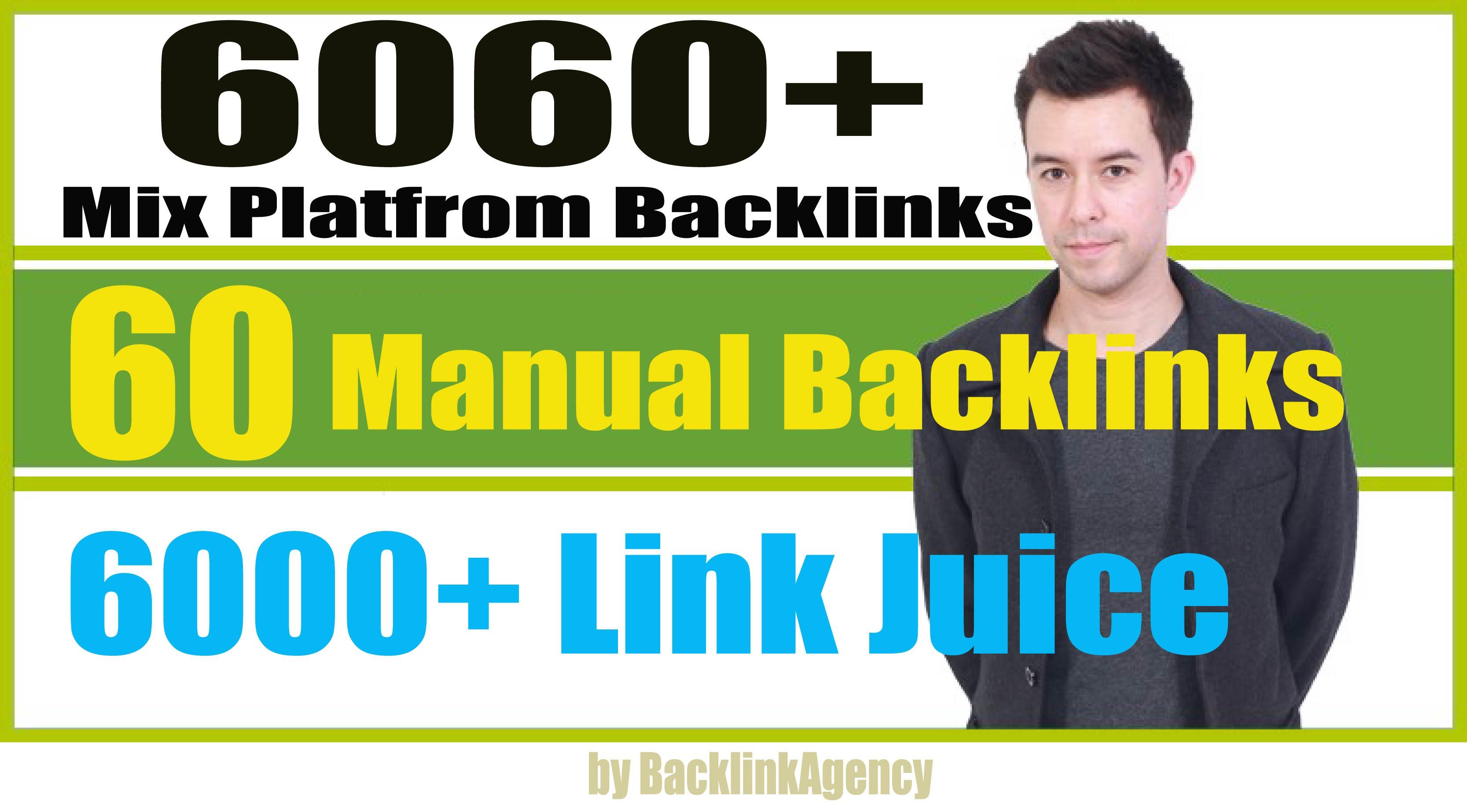 6060+ Mix Platform Backlinks Web2,  Profile,  Wiki,  Bookmark,  Edu-Gov And 6000+ Tier2 Link Juice