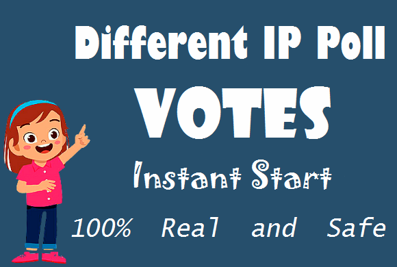 Different IP 250+ Votes Any Online Voting Contest poll votes
