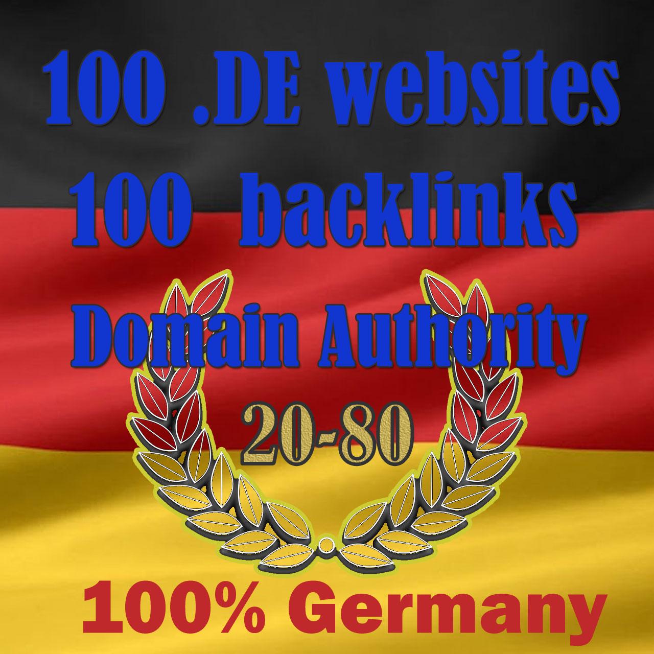 High DA German seo backlinks from 100 DE websites high authority