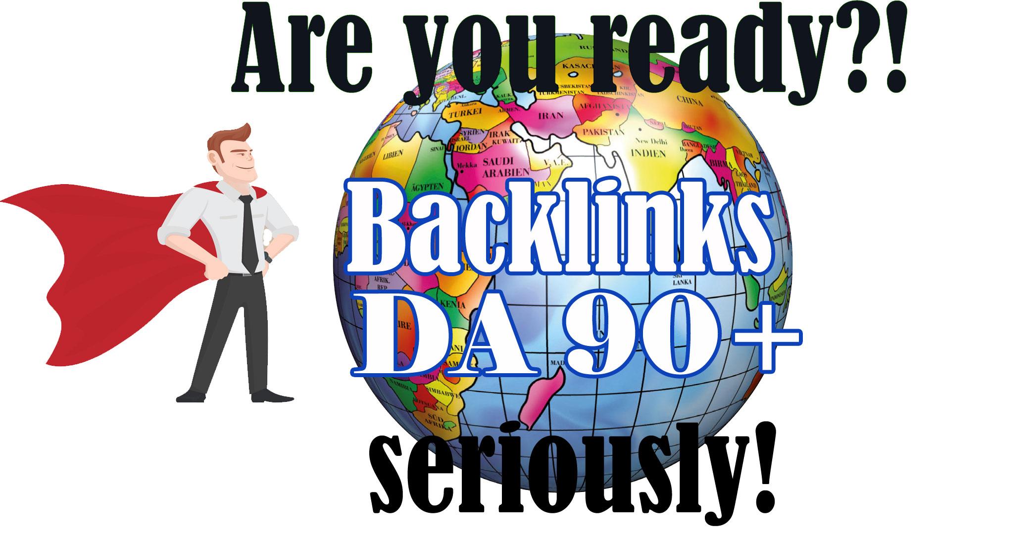 Create 20 High Da Authority Backlinks DA 90 and up