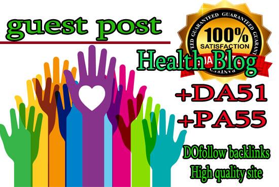 do guest post DA51 PA55 on Health blogs