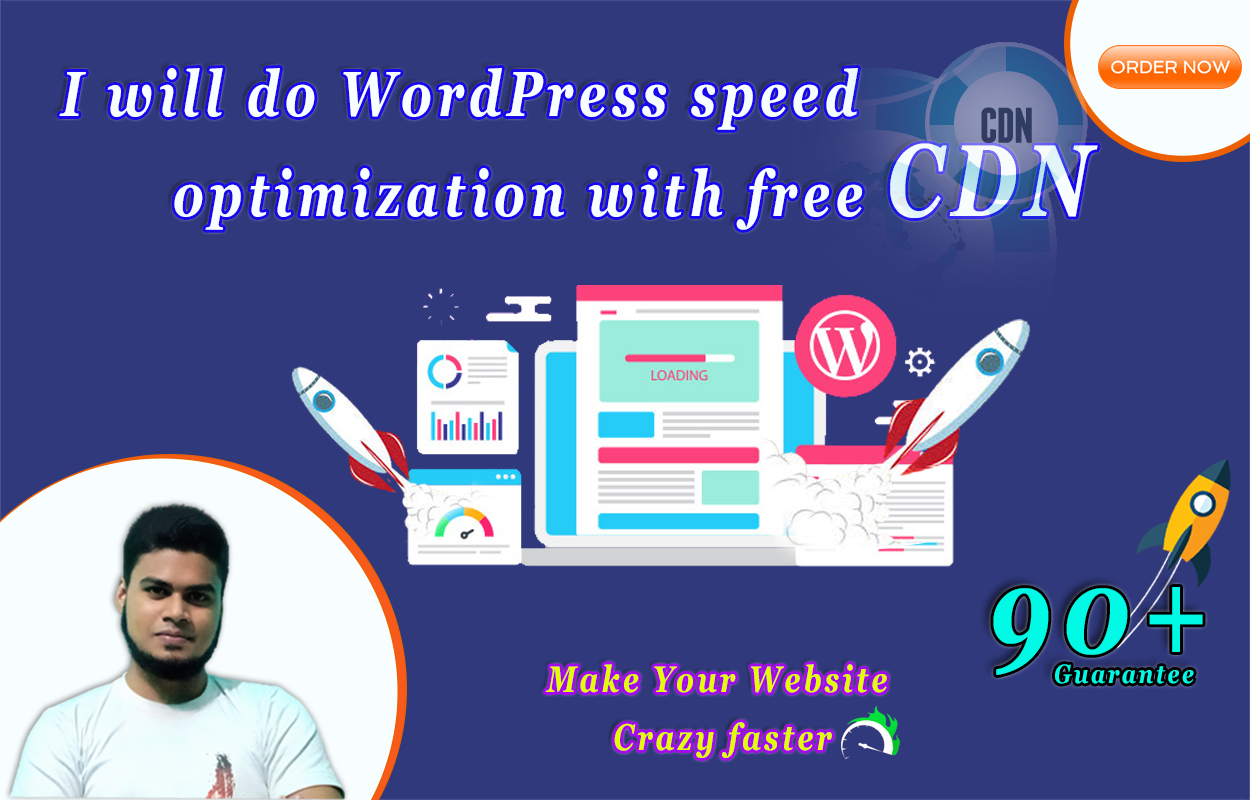 I will do WordPress speed optimization with free CDN