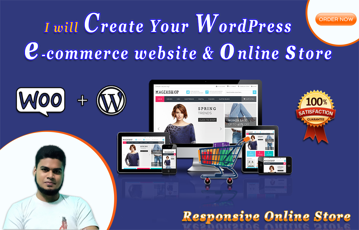I will Create WordPress ecommerce website,  online store by woocommerce