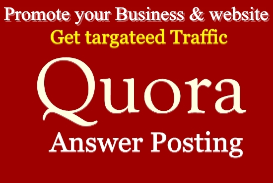Promote your website 12 Niche Relevant Quora Answers for getting Traffic