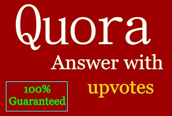 Provide Niche related 8 Quora answers with Different account & Upvotes
