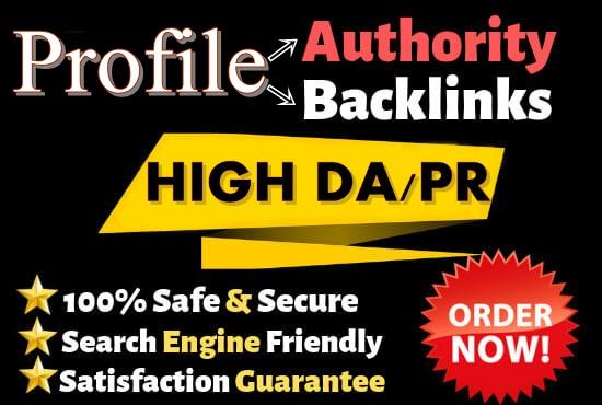 I Will Create 20 High DA,  PA SEO Profile Backlinks Manually