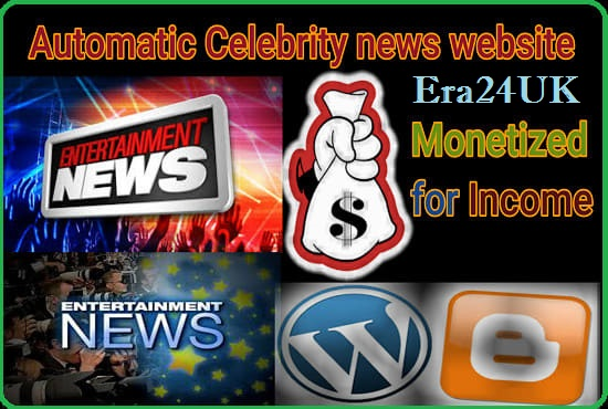 I Will Create An Automatic WordPress Website for Celebrity,  Entertainment,  News,  other Niches