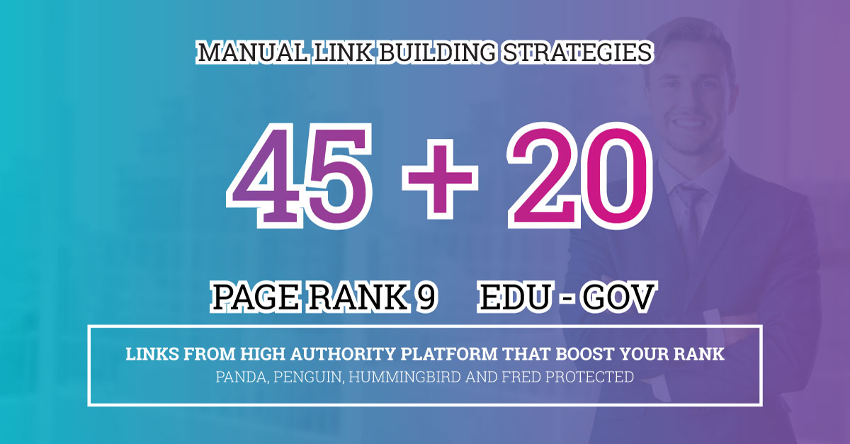 Fire Your Google Ranking with 45 Pr9+ 20 Edu/Gov Safe Authority Backlinks
