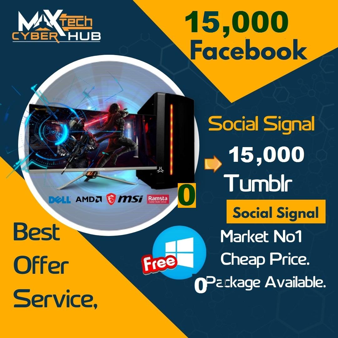 Powerful Top Platform 15,000 Facebook Or 15,000 Tumblr Social Signal Bookmark SEO 1st Page Google
