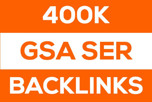 400,000 Ultimate SEO GSA SER High Quality Backlinks for Google Ranking