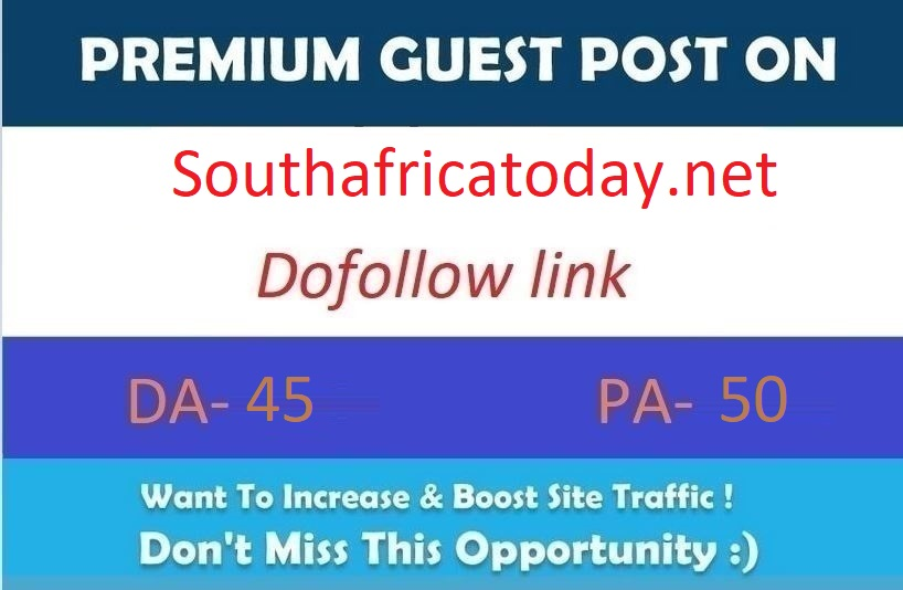 Publish a guest post on Southafricatoday. net DA55