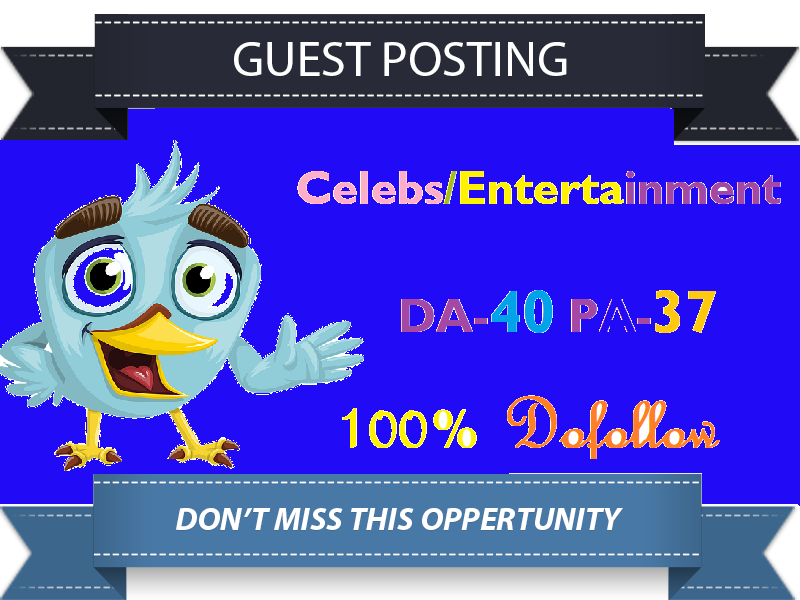 Guest Post DA40 Celebs Entertainment Blog