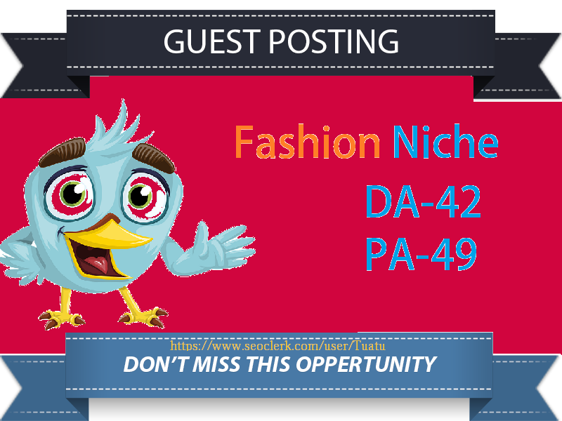High-Authority Backlink From DA42 Fashion Lifestyle Website