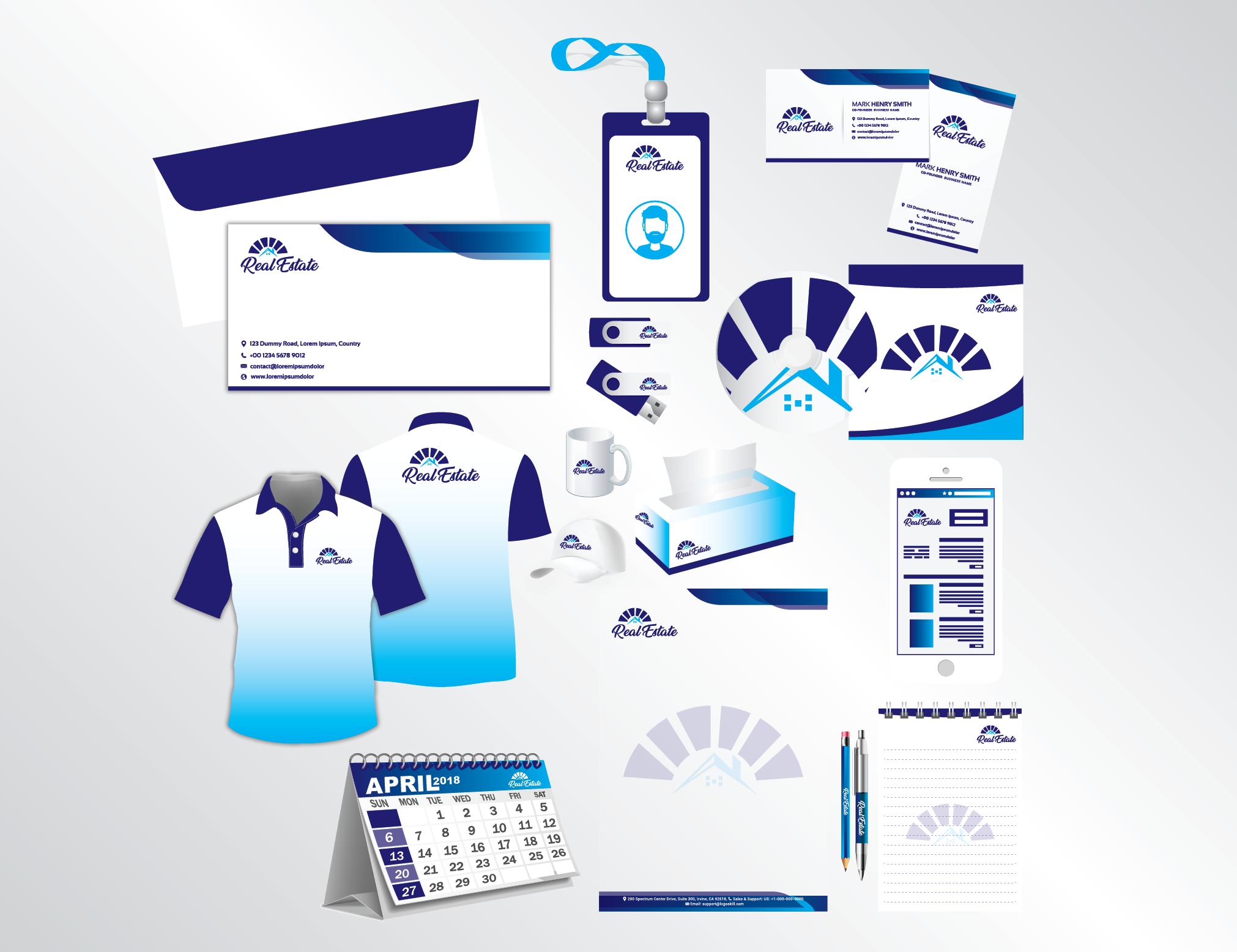 I will design business card,  letterhead and stationary calender usb tshrirts idcard