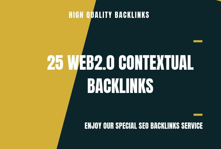 I'll Do 25 Web 2, 0 Contextual Backlinks