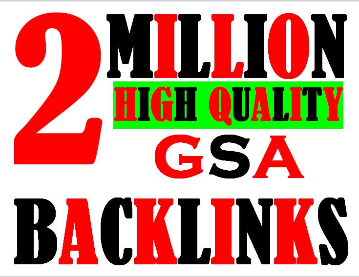 2 Million verified GSA Backlink for websites,  videos to achieve your goal