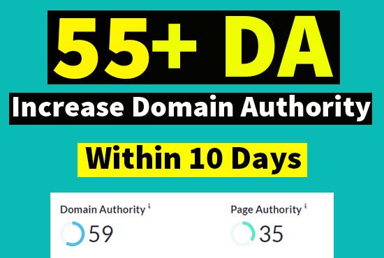 I will increase domain authority da moz 55