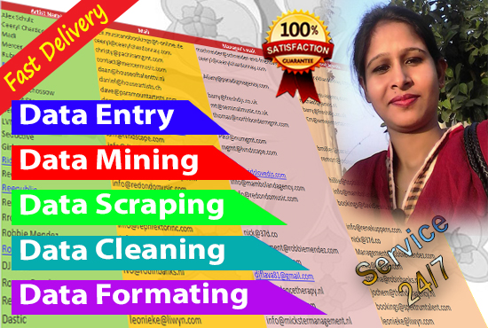I will do data entry,  formating & analysis