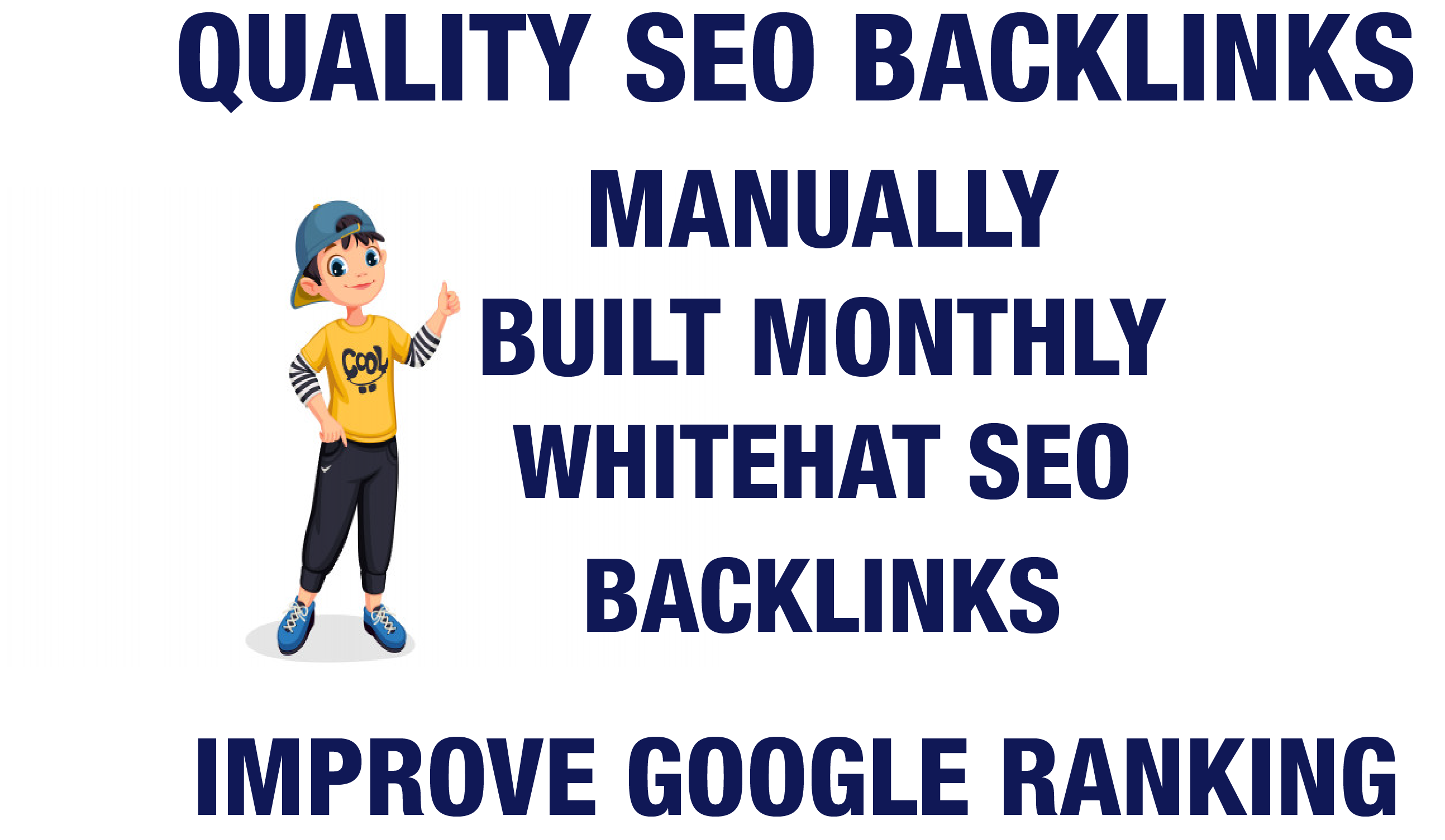 Monthly Rank 1 Manual White Hat SEO High Quality Backlinks Service