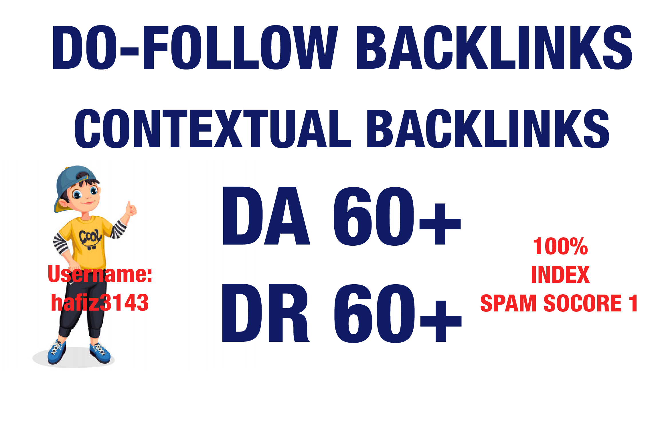 I will Provide Contextual Dofollow Backlinks DA 91 Plus To DA 60 Plus