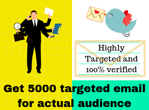 Get 1000 email list for your targeted audience