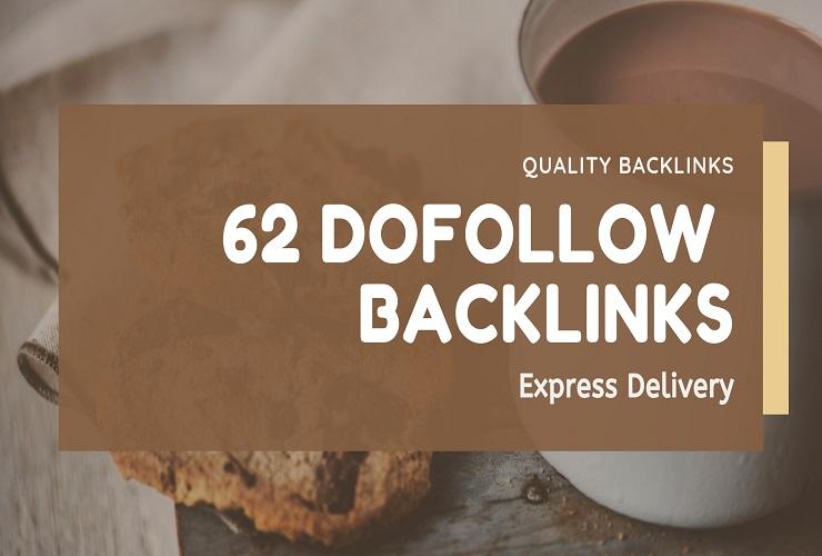 I will 62 unique dofollow backlinks DA 30 to 90 plus