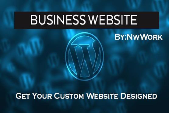 Custom Modern Unique Wordpress Website Design In Any Language