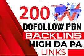 I will do 200 PBN dofollow High DA PA homepage parmanent backlinks
