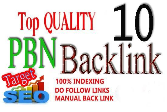 I will do 10 Unique PBN dofollow home page DA 20+ Parmanent backlinks