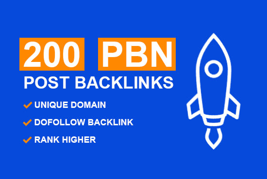 I will do 200 PBN homepage dofollow unique parmanent backlinks