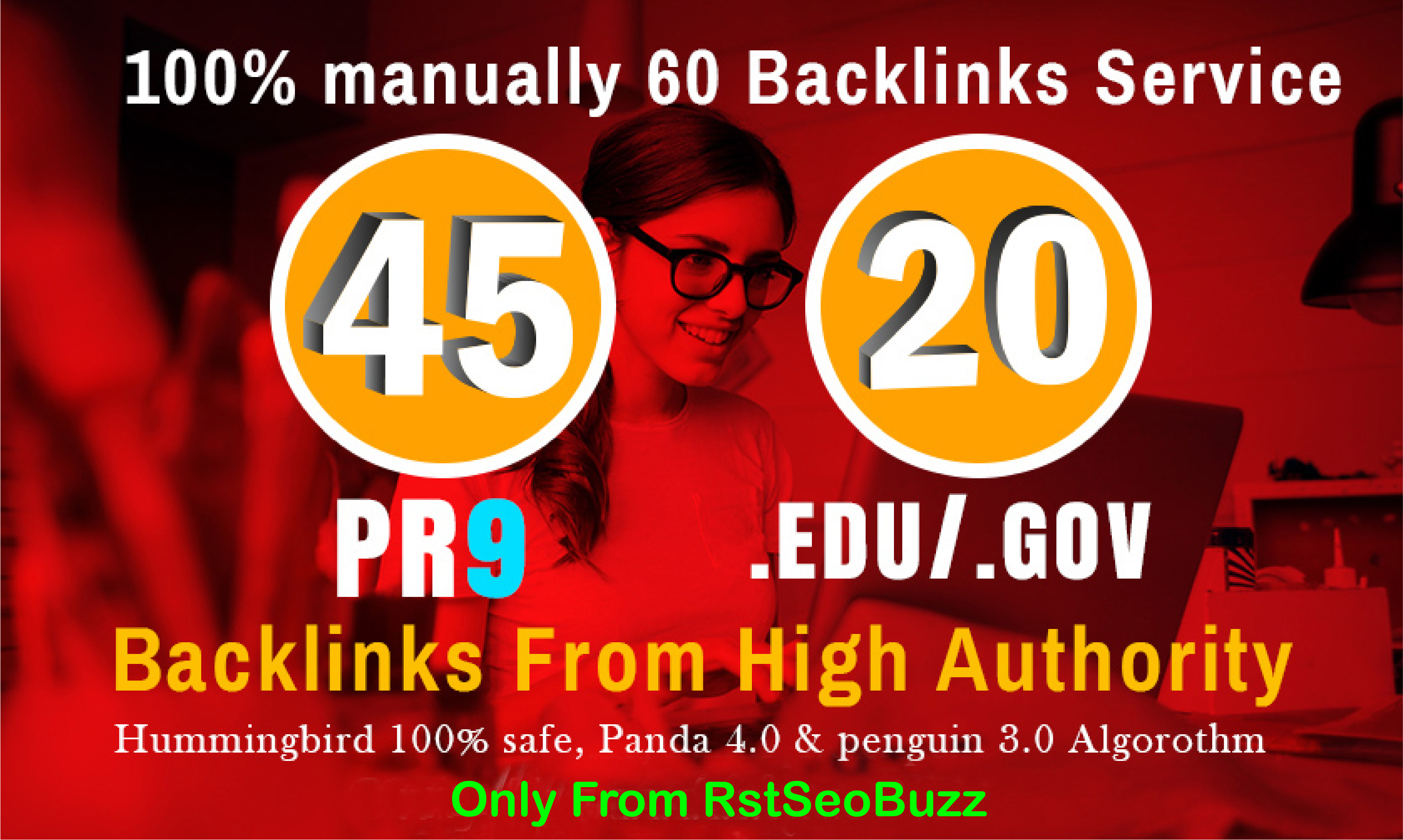 I will manually do 40 PR9 + 20 EDU/GOV Safe SEO High Pr Backlinks Best Results 2021