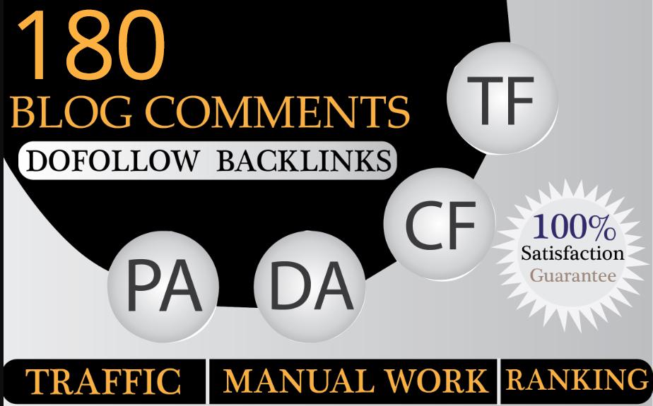 Do 180 High Pa Da Dofollow Blog Comments Backlinks Manually