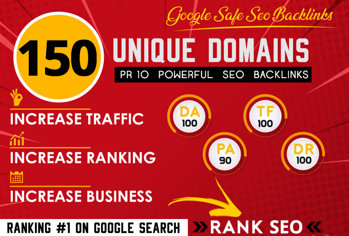build powerful 150 SEO backlinks on pr10 websites da100 dr70