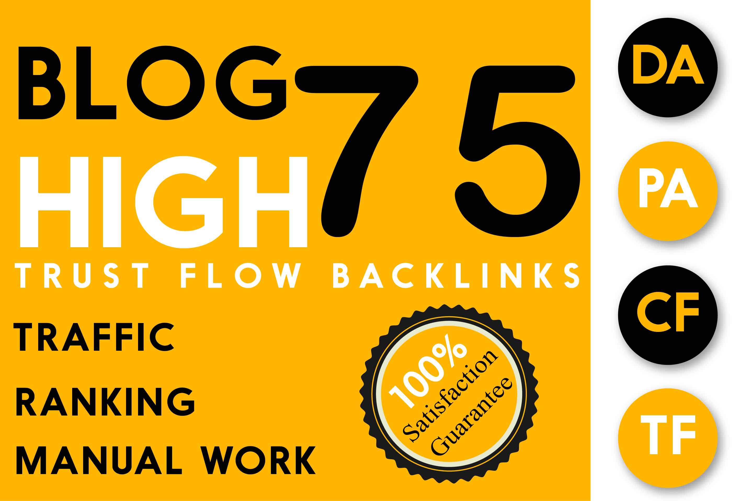 Do High Quality 75 Trust Flow And Citation Flow SEO Backlinks On Tf30 Da50