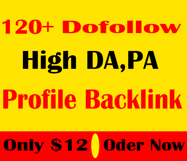 manually create 120+ Pr9 To Pr7 profile backlinks for boosting your ranking