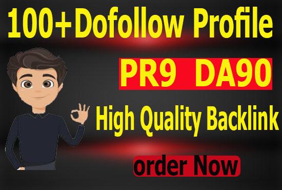 Manully Create 100 High Quality Pr9 DA90 Dofollow profile Backlinks