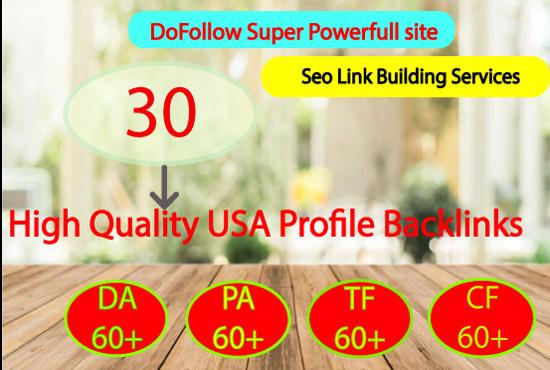 30 high da pa backlinks for your website