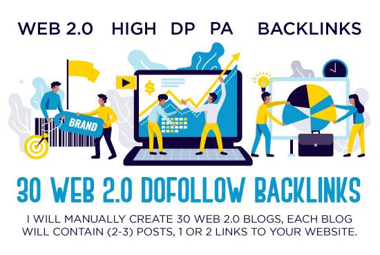I Will do 30 manual high quality web 2 dofollow backlinks