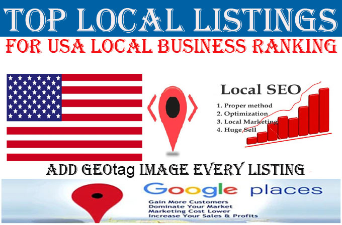 I will do 100 local listings for USA local business ranking