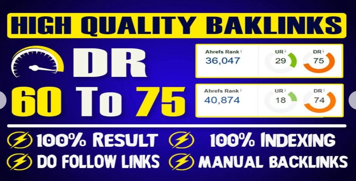 I will create 20 DR 60 to 75 PBN contextual dofollw backlinks for good seo results