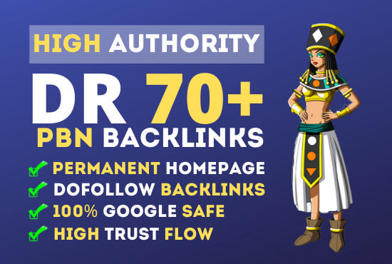I will make 10PBN DR50To70 dofollow permanent homepage pbn backlinks