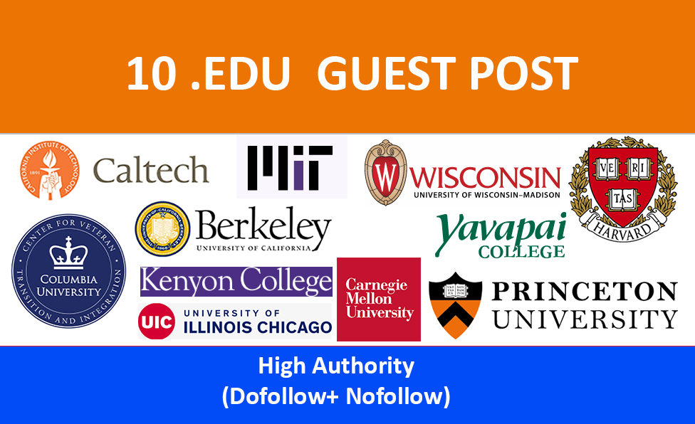 10 EDU Guest Post Backlinks From USA Universities