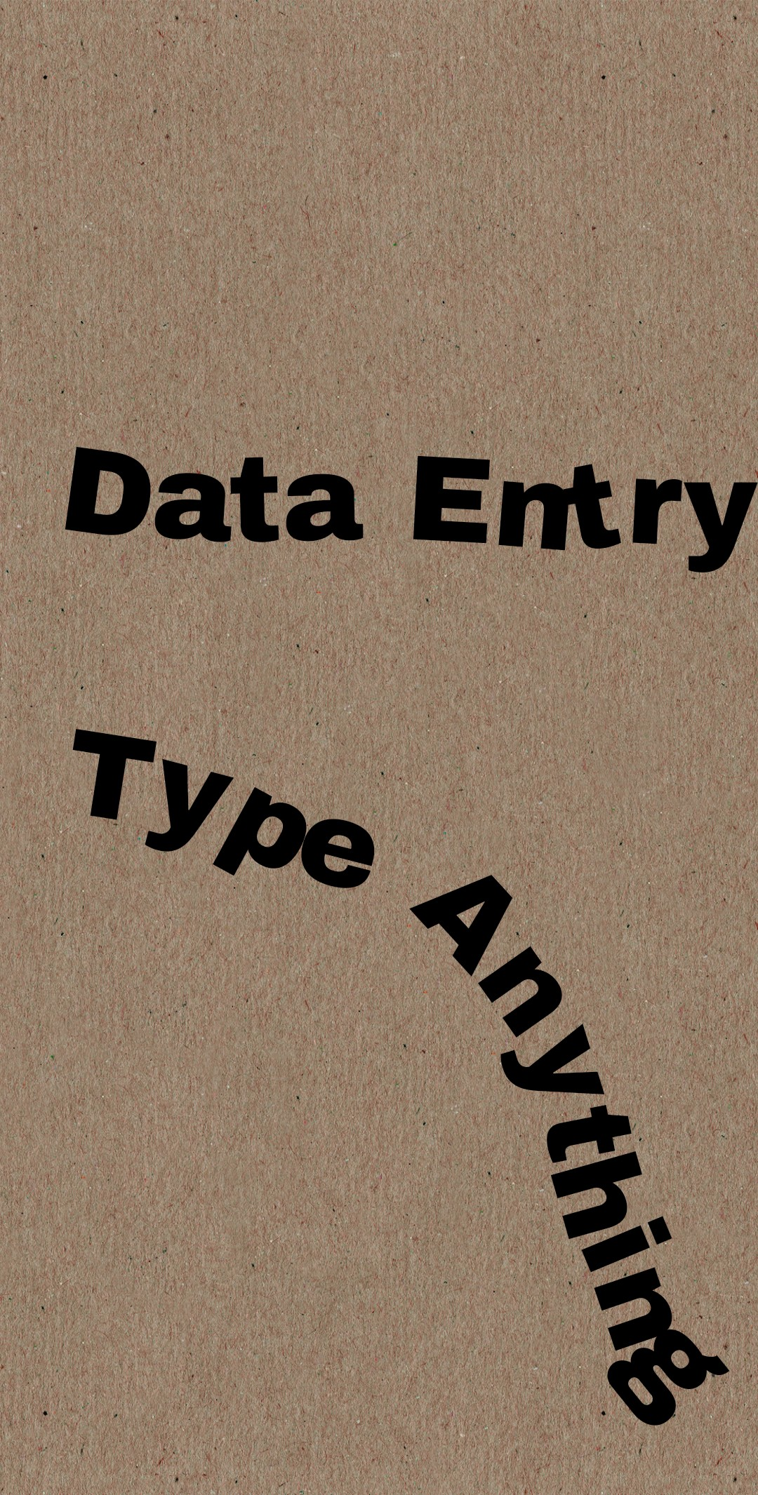 HEY, Data Entry For You And Also I Can Type Anything For You